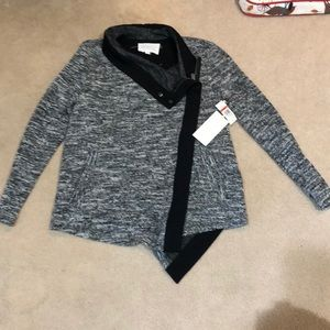 Two by Vince Camuto Soft Black Tweed Jacket/Blazer